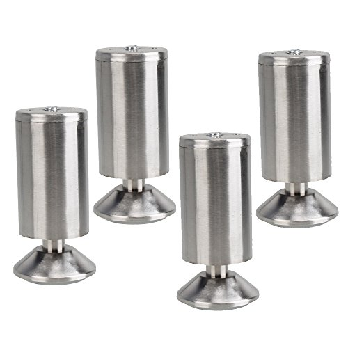 Amazon.com: 4pcs 4.7inch Height Stainless Steel Furniture ...