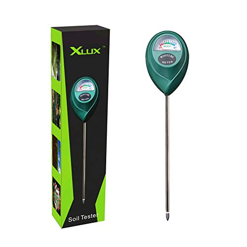 XLUX T10 Soil Moisture Sensor Meter - Soil Water Monitor, Hydrometer for Gardening, Farming, No Batteries - Soil Measure Moisture