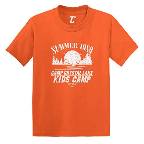 Camp Crystal Lake Kids Camp - Parody Infant/Toddler Cotton Jersey T-Shirt (Orange, 4T)]()
