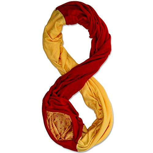 Stadium Series Scarf by WAYPOINT GOODS // Infinity Scarf w/Secret Hidden Zipper Pocket (Red & Yellow)