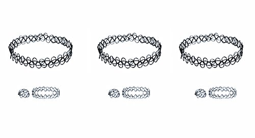 choker necklace, ring, bracelet. 3sets in 1 package ()