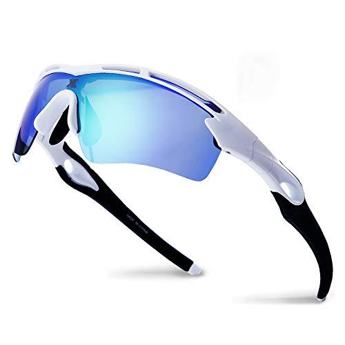 XR Unisex Polarized Sports Sunglasses for Men Women TR90 Ultra Lightweight Unbreakable Frame 100% UV Protection (Green)