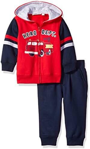 Kids Headquarters Baby Boys' 2 Pieces Hooded Fleece Pants Set
