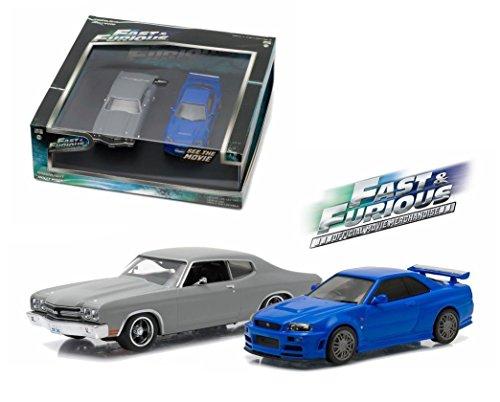 DIECAST 1:43 Fast & Furious (2009) 1970 Chevrolet CJHEVELLE SS & 2002 Nissan Skyline GT-R Set of 2 86252 by Greenlight
