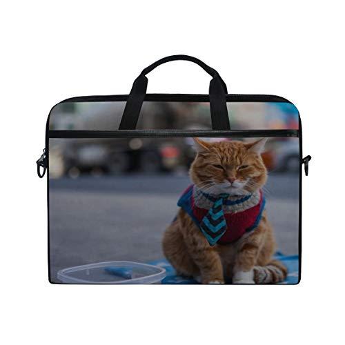 Rh Studio Laptop Bag Cat Beggar Clothing Redhead Laptop Shoulder Messenger Bag Case Sleeve for 14 Inch to 15.6 Inch with Adjustable Notebook Shoulder Strap