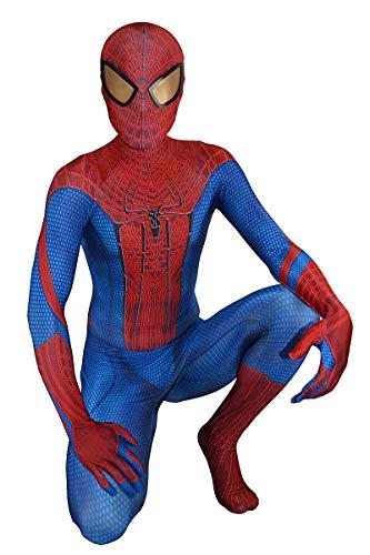 The Amazing Spider-Man Costume Classic Halloween Cosplay Spiderman Costume Superhero Zentai Suit (Kids-XS) Red
