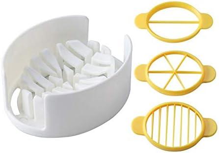 Kunststoff Eierschneider Phantasie Three-in-one Pine Egg Divider K/üchenwerkzeug Multifunktions-Eierschneider-Wei/ß gelb