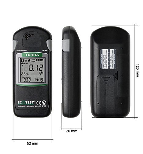 Radiation Dosimeter Terra Pro Geiger Counter Detector MKS-05 English Version