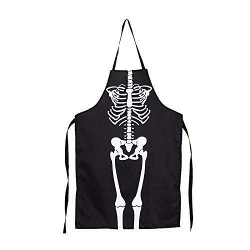 Aprons - Women Men Halloween Aprons Skeleton Printed Waterproof Cooking Bib Party Costume Clothes Popular - Cross Diy Cats Pvc Extra Toddler Spanish 12 Stone Jesus