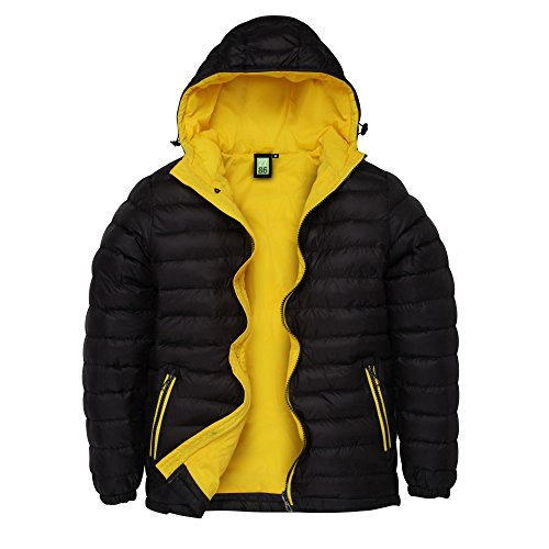 Wind 2786 Bright Jacket Black Padded Resistant Mens amp; Yellow Water Hooded rrz1qfI