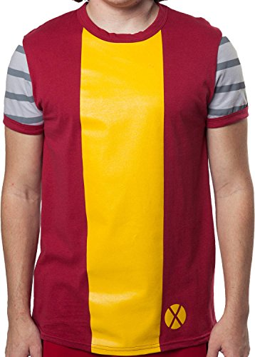 [Mighty Fine Men's Marvel Comics X-Men Colossus Costume Shirt Red Small] (Marvel Colossus Costumes)