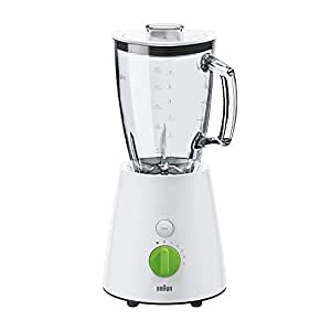 Braun Jug Blender 800W,Glass Blender 1.75LT, 5 Speeds, Pulse, Turbo, Removable SS Blade JB 3060