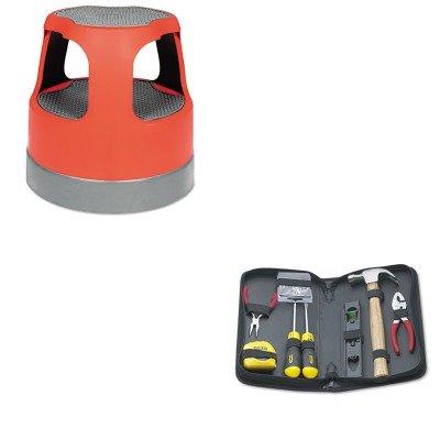 KITBOS92680CRA50011PK43 - Value Kit - Cramer Scooter Stool Round (CRA50011PK43) and Stanley General Repair Tool Kit in Water-Resistant Black Zippered Case (BOS92680)