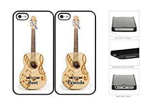 Best Friends Guitar And Musical Notes Set Hard Plastic Snap On Cell Phone Case Apple iPhone 5 5s