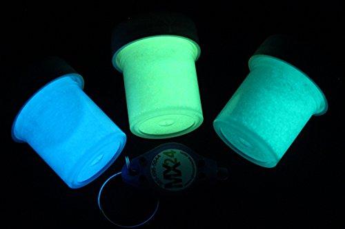 Colors 2 Oz Jar Fluorescent - 3 Color MX24 Extreme Glow in the Dark Paint Sampler Set in 1/2oz pots