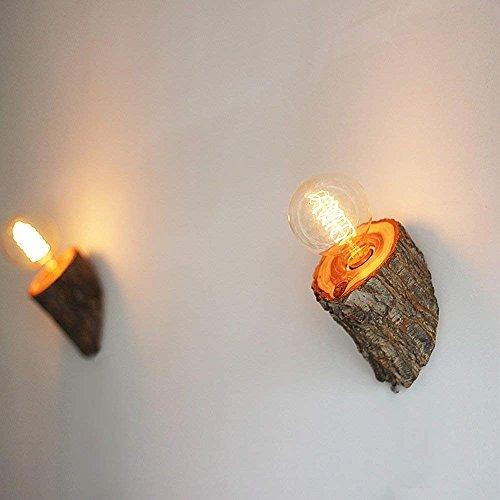 Son Haizhen Et Wall SauvageModerne Style Bois D'orme LampChambre bfgy76Yv
