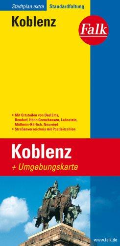 Falk Stadtplan Extra Standardfaltung Koblenz