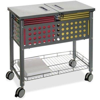 Vertiflex VF52001 Smartworx File Cart, One-Shelf, 29 1/8w x 14d x 28 3/8h, Matte Gray