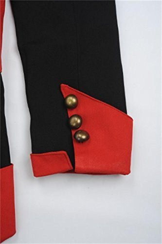 Cosplay Costume Hoodie/Jacket/Coat-9 Options for the fans,Black with Red,Men Large by BuyChic (Image #2)