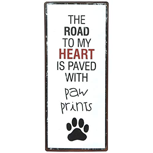 NIKKY HOME Decorative Cat Wall Plaque Metal Pet Signs with Quote