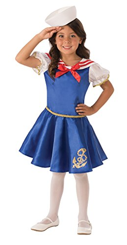 Sailor Costume Girls (Rubie's Costume Sailor Girl Value Child Costume, X-Small)