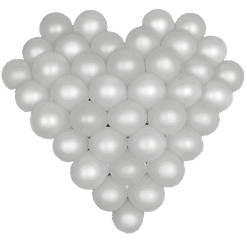 Elecrainbow 5 Inch Silver Balloons, Round Pearl Balloon for Balloon Arch Modeling, Pack of - Blue And Silver Tiffany