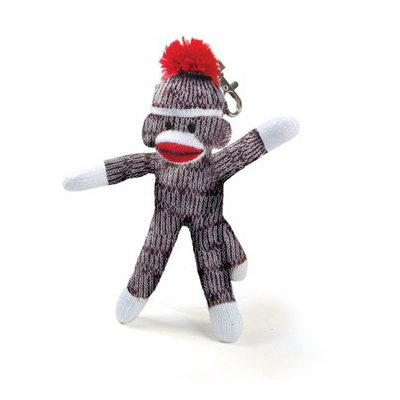 Original Sock Monkey Clip Keychain