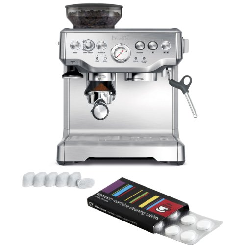Breville BES870XL Barista Express Espresso Machine with Bonus Filters and Cleaning Tablets