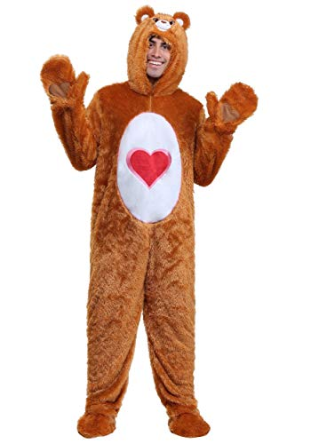 Adult Plus Size Classic Tenderheart Care Bears Costume 2X Brown ()