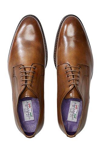 next Hombre Zapatos De Vestir Lisos Italia Bronceado
