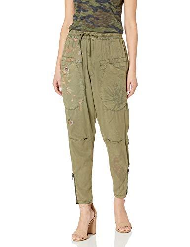 Desigual Women's Telescopium Woven Long Trouser, Green Water, M