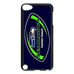 Custom Your Own Personalized NFL Seattle Seahawks Ipod Touch 5th Case, Snap On Hard Protective Seattle Seahawks Ipod 5 Case Cover