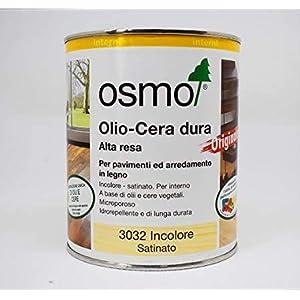 Olio cera dura alta resa 3032 Osmo per pavimenti e arredamento in legno da 0,75 ml Idrorepellente 5 spesavip