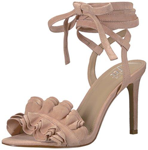 Petal Pink Strap Dress (The Fix Women's Cantu Ruffle Ankle Wrap Dress Sandal, Petal Blush, 6.5 B US)