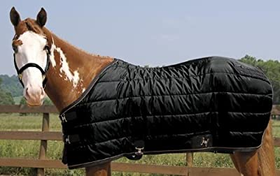 "Weaver Heavyweight Quilted Winter Stable Blanket (300 Grams) - Size:74"" Color:Bl"