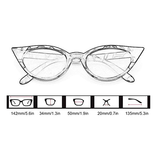ECYC® Para Sol Polarizadas Sol Mujer Marco Grueso Leopardo Retro A05 Estilo De Gafas De Catado Gafas twp4qII