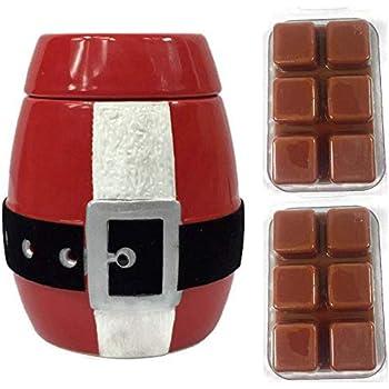Santa Suit Red Candle Wax Melt Christmas Warmer Electric Fragrance Air Freshener for Tart Cubes Bundle Bonus 2 Wax Tart Included