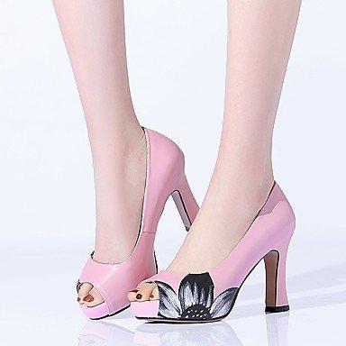 blushing Talons Décontracté Femme pink Chaussures Cuir Talon ggx Gros à Confort LvYuan BSqwapB