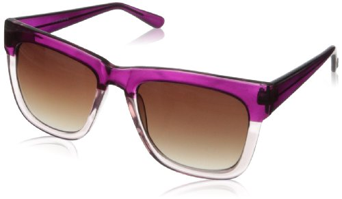 Cole Haan Women's C 6122 73 Rectangular Sunglasses,Viola,55 mm (Cole Haan Women Sunglasses)