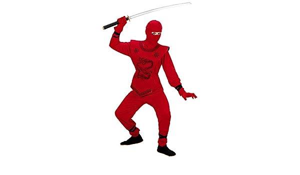 WIDMANN Disfraz de ninja rojo para niños (rojo): Amazon.es ...