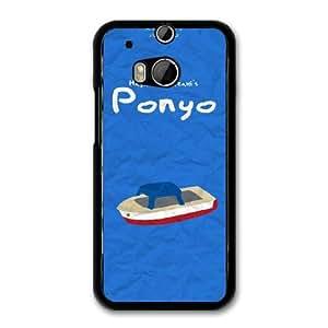 Ponyo H3R2BH8R Caso funda HTC One M8 Caso funda del teléfono celular Negro