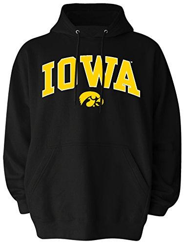 NCAA Iowa Hawkeyes Pullover Hood, X-Large, Black (Hawkeyes Hoodie Iowa)