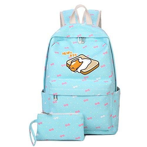 Siawasey Cute Gudetama Lazy Egg Cosplay Backpack Bookbag School Bag for teenagers (Blue1)