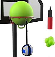 Volleyball Spike Trainer Basketball Hoop - Great Home Training Equipment for Improving Spiking, Jumping and Ar