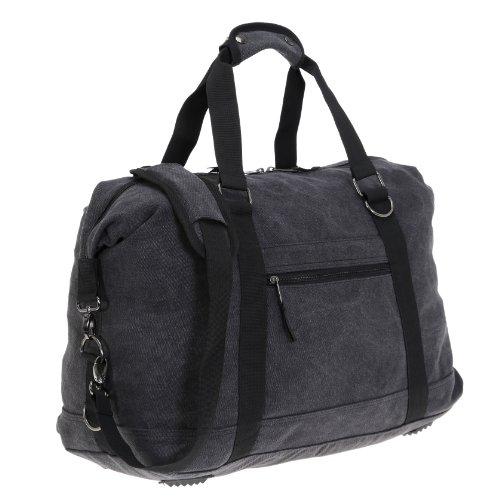 Reisetasche QUADRA TRAVELBAG Canvas Canvastasche Tasche Sporttasche Weekender (Black) Schwarz