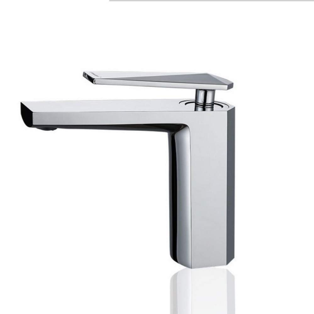 Xiujie Faucet Copper Basin Faucet Bathroom Square Hot and Cold Mixing Basin Sink Faucet