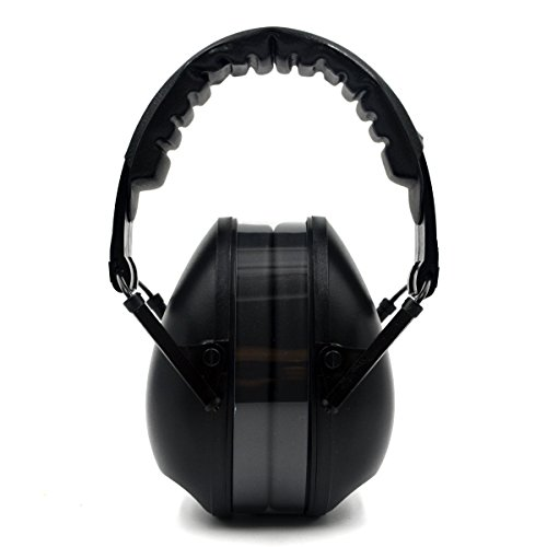 Headband Adjustible Safety Ear Muffs Hearing Protection Noise Cancelling Ear Protection Muffs for Shooting Range Lawn-Mowing Black