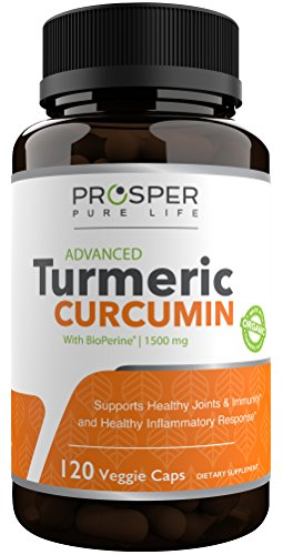 Turmeric Curcumin Capsules W/Bioperine 1500mg - Organic Tumeric Curcumin Supplement With Black Pepper Extract - Vegan - Non GMO - Supports Joint Pain Relief - Antioxidant Supplement - 120 Capsules