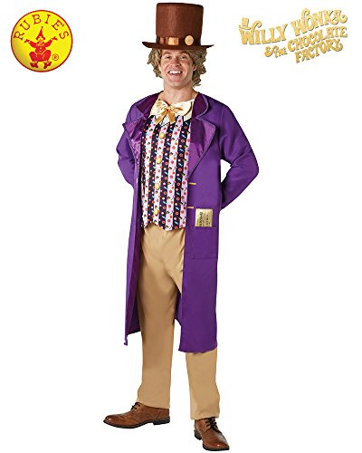 Rubies Mens Womens Willy Wonka Costume Mens Willy Wonka Costume - Standard