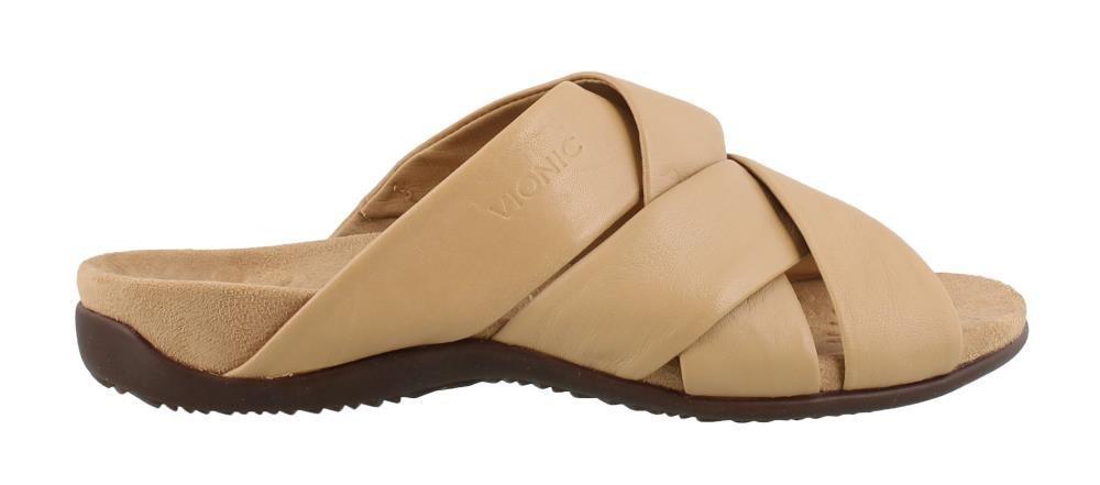 Vionic Women's Juno Slide Sandal B07D3GLKWX 8 B(M) US|Tan